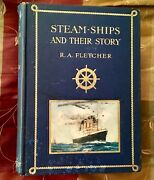 1st Ed 1910 Steamships And Their Story Fletcher White Star Line Titanic Olympic