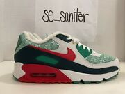 Nike Air Max 90 Nordic Christmas Ugly Sweater Dc1607-100 Mens Size 9.5 Noboxtop