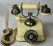 Vintage 9 Bell System Old Fashioned Metal Retro Rotary Phone Parts Repair