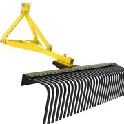 Aai Attachments 5 Ft Landscape Rake For Compact Tractors Category 1 3 Point