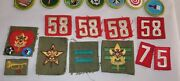Lot Of Boy Scout Vintage Eagle Scout Insignia Rank Numbers Pins Badges Patches
