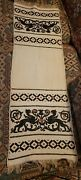 Vintage Hand Sewn And Embroidered Griffon Griffin Prayer Tapestry Table Scarf