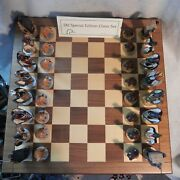 Ducks Unlimited Handcrafted Special Edition Chess Set Loon Lake Decoy Du Dog Coa