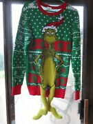 Size M Mens Ugly Christmas Sweater Dr. Seuss W Dangle Legs Small Hole