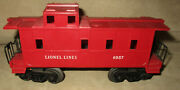 Lionel Lines 6057 Red Caboose Car O Scale Model Railroad Train Layout Car
