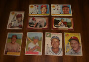 9 1950's Topps And Bowman Phillies Baseball Cards