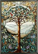 Mi Hummel - Glassmasters 9-1/4 In By 3-1/4 In Tree Of Life Stained Glass Panel