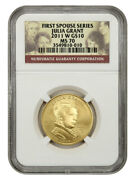 2011-w Julia Grant 10 Ngc Ms70 - First Spouse .999 Gold