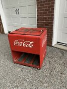 1930and039s 1940andrsquos Coca-cola Ice Cooler Display Coke Bottles