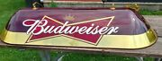 Bowtie Budweiser Pool Table Light Red And Gold Dome