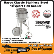 Bayou Classic 10 Quart Stainless Steel Sportsman Fish Fryer Kit 1135 Top Quality