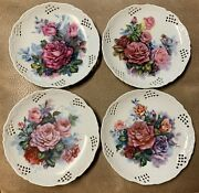 The Bradford Exchange, Classic Rose Collection 4 Pc Set. Numbered Plates 1995