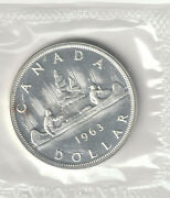 1963 Unc Canada 80 Silver Dollar Untouched By Hands