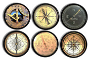Old Antique Nautical Compass Cabinet Knobs, Vintage Mariners Dresser Drawer Pull