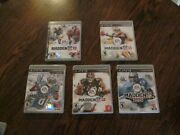 """Madden Nfl 10/11/12/13/25 Ps3 Sony """"lot Of 5"""" Ea Sports—rated E-everyone"""