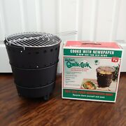 Vintage Safari Qwik Cook Round Stackable Portable Grill New Open Box