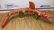 Rare Wawel Dragon Hand Made And Painted Wood Toy From The Krakow Workshops Poland