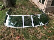 Curved Glass Windshield Complete Off Of A 32andrsquo Chaparral Lasar