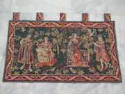 6894 - Old French / Belgium Tapestry Wall Hanging - 97 X 54 Cm