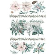 Prima Redesign Evergreen Florals Christmas Furniture Craft Transfer Decal 24x35