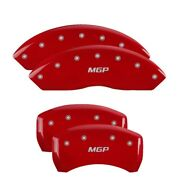 Mgp Caliper Covers Engraved Front And Rear For 2007-10 Saturn Sky - Red