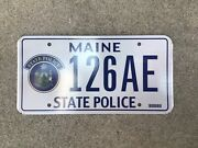 Maine - State Police - Prototype - License Plate