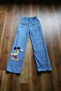 Vintage Womenand039s 1970and039s Wrangler Jeans Straight Leg 11/12 Chain Stitched Mickey
