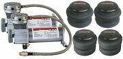 Air Ride Suspension Air Compressors Pewter 4 Air Bags Starter Parts Package
