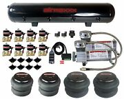 Air Compressors 400 Pewter 3/8npt Valves 2500 2600 Bags Chrome 9 Switch And Tank