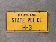 1976 To 1985 - Maryland - State Police - License Plate