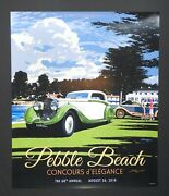 1 Of 3 2018 Pebble Beach Concours Rolls-royce 47x64 Lg Poster Sign Will Ship