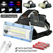 Cob Usb Rechargeable Led Headlight Headlamp 3-modes For Camping Hunting Light Em