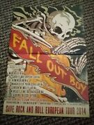 Tbebk128 Advert/poster 16x11 Fall Out Boy Save Rock And Roll European Tour