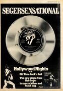F25 Newspaper Poster/advert 15x11 Bob Seger And The Silver Bullet Band