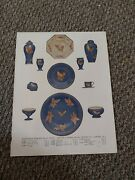 Pb07 Advert/picture 11x8 Wedgewood Powder Blue China, Mappin And Webb