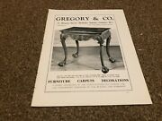 Ant6 Antiques Advert 11x9 Gregory And Co - Early Georgian Side Tables