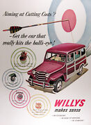 1951 Jeep Willys Stationwagon Genuine Vintage Ad Free Shipping