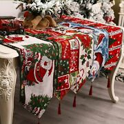 Creative Christmas Table Runner Xmas Party Living Room Dress Up Home Decorations