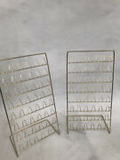Thimble Display Rack X 2 Metal Racks Freestanding Unique Well Made Lovely Cases