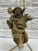 Black African American 5andrdquo Angel In Robes With Feathers Ornament