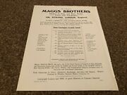 Aabk11 Antiques Advert 11x8 Maggs Brothers Rare Books Prints And Autographs