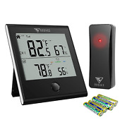 Doqaus Indoor Outdoor Thermometer Wireless Digital Hygrometer Temperature And