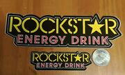 2 Authentic Rockstar Energy Drink Stickers Decal Sign Logo Bmx Motocross