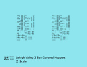 K4 Z Decals Lehigh Valley Two Bay Covered Hopper Black