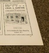 Ant6 Antiques Advert 5x4 Chas L Sawyer Rare And Choice Books