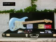 ♚sublime♚and03913 Fender American Deluxe Plus Stratocaster ♚ice Blue Metallic♚+extras