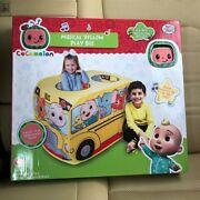 Cocomelon Musical Yellow School Bus Tent Up Pop N Play Kids Toddler Wheels Song