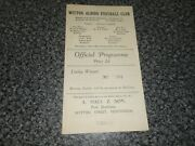 Witton Albion Northwich  V Tranmere Rovers 1947/8 Jan 10th Free Post