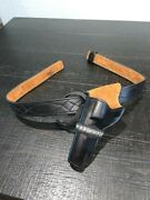 Pre-owned Andrews Leather Cowboy Gun Belt And Cowboy Leather Holster