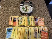 Pokemon Black And White Snivy - Spring 2011 Tin + Lot Of 150 Assorted Cards